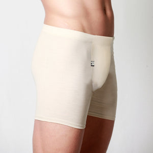 Men's Merino fitted boxer briefs natural