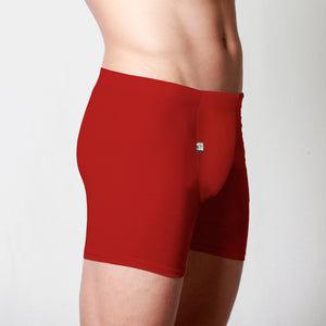 Men's Merino fitted boxer briefs red