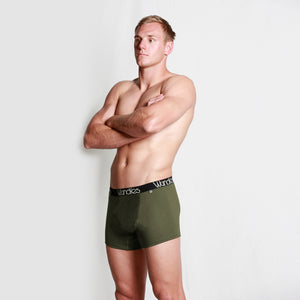 Mens fitted boxers with fly