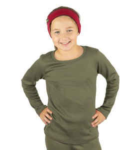 Kids Merino Thermal Shirt Olive