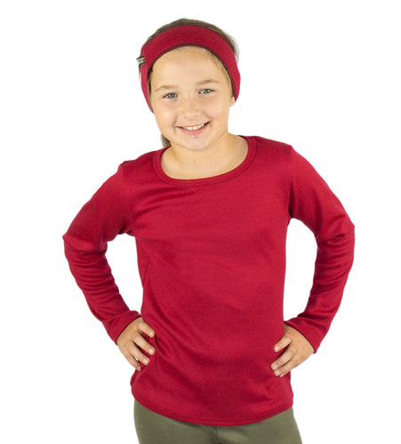 Kids Merino Thermal Shirt Red