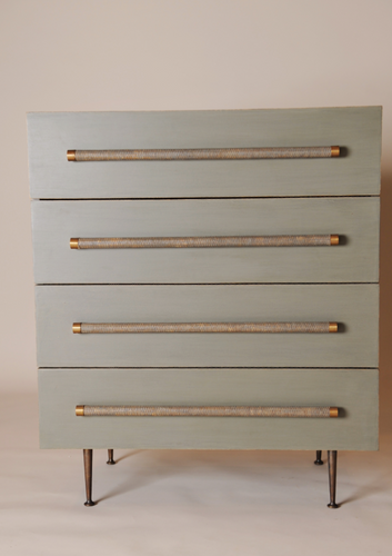 Chest of 4 Drawers with Bamboo Handles