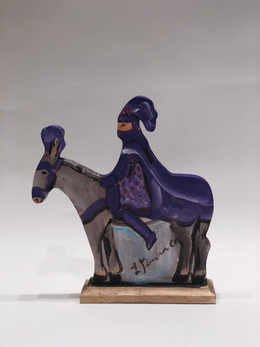 Purple Captain on Horse