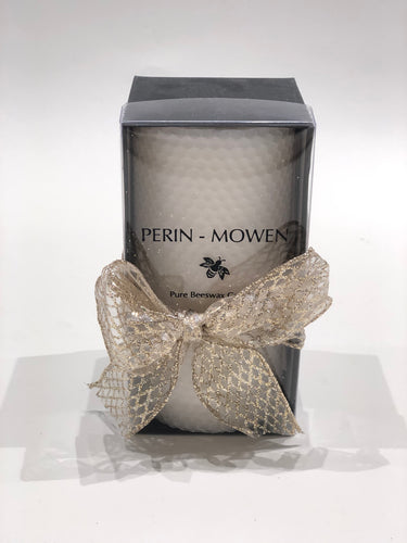 Perin-Mowen Medium Pure Beeswax Candle