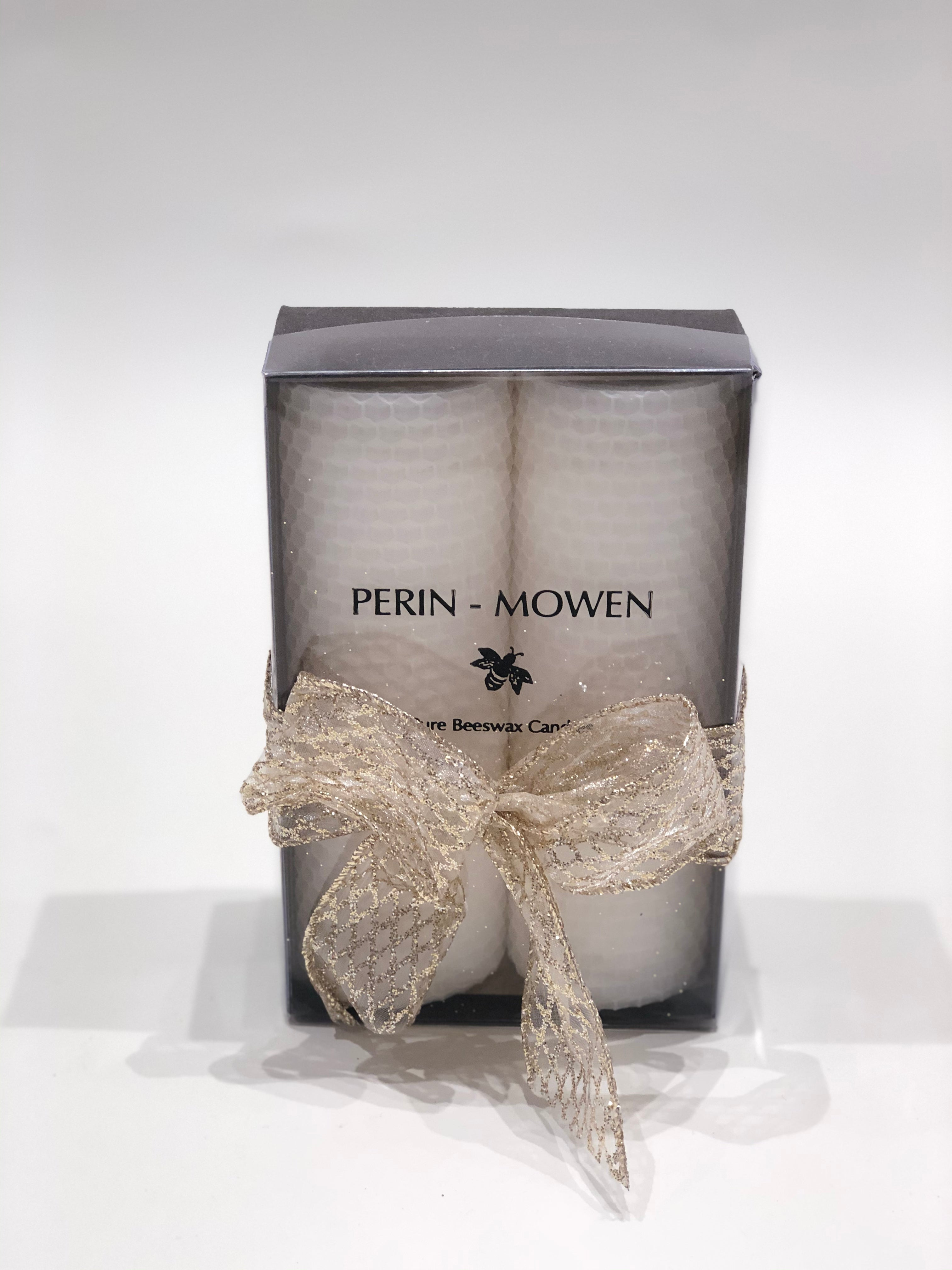Perin-Mowen Double Pure Beeswax Candle