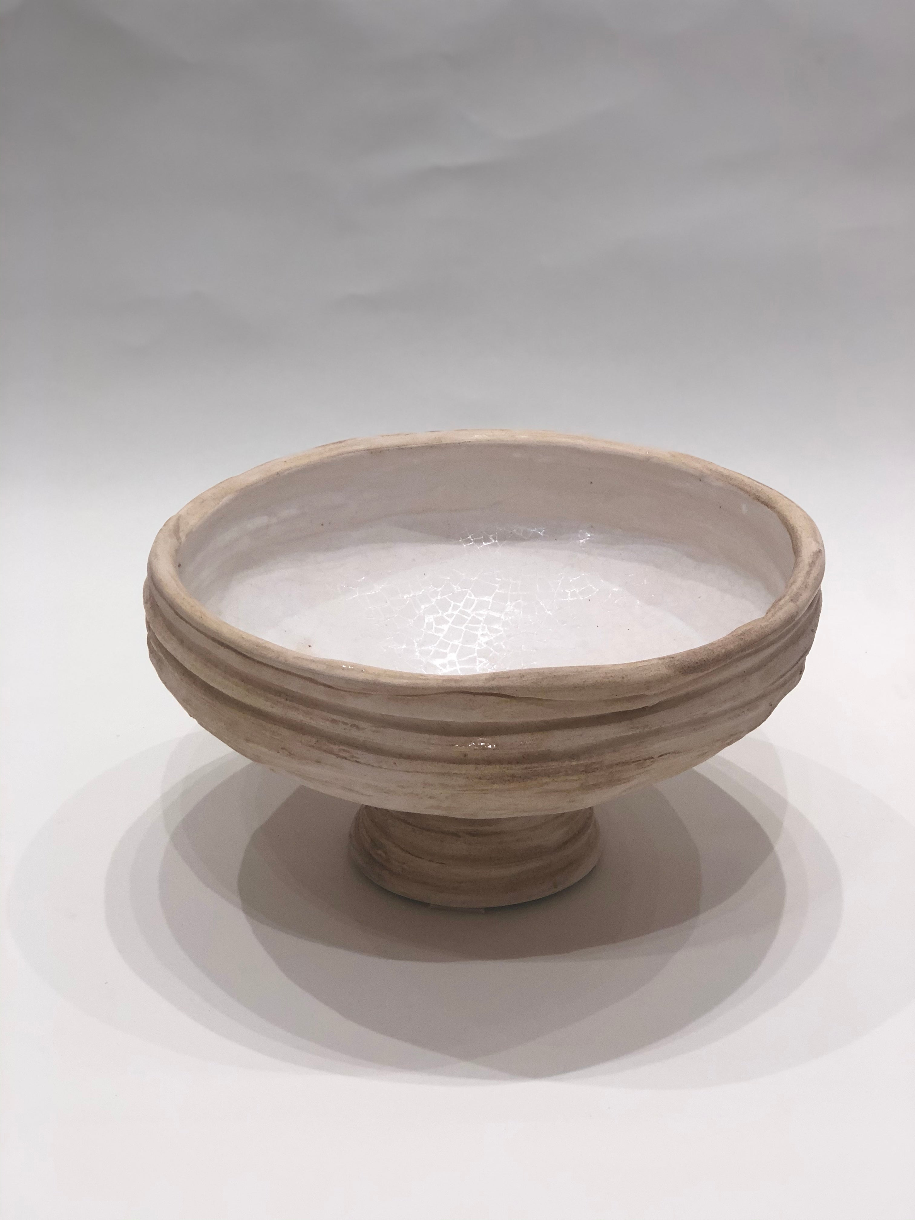 Lifted Hand Made Round Clay Bowl