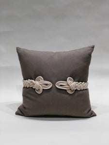 Taupe Knot Pillow