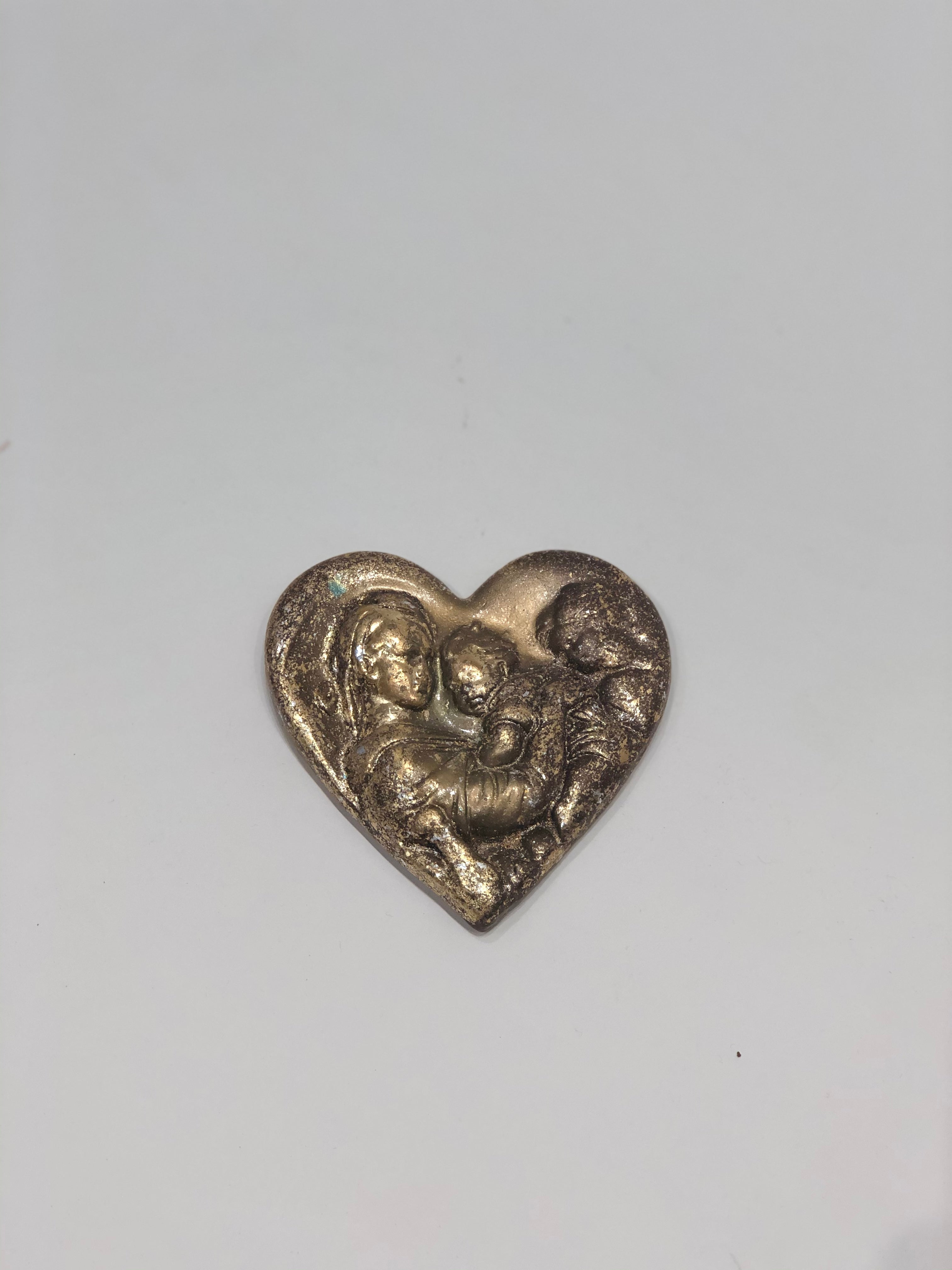 Gold Leaf Mother with Children Heart