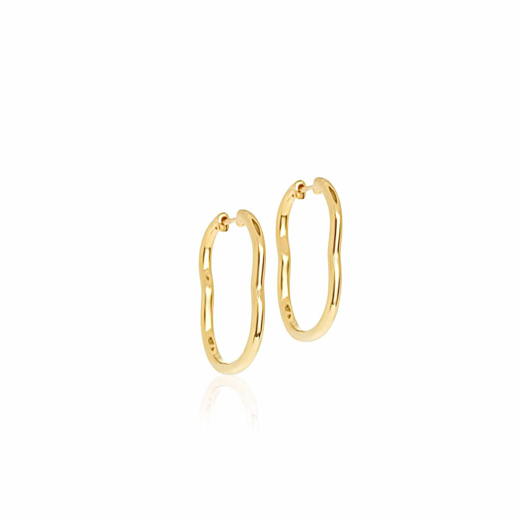 BERCEAU 18K Gold Hoop Earrings - Yellow earrings ALMASIKA