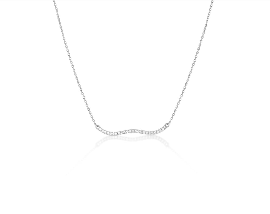 Berceau Diamond Necklace - White Necklace ALMASIKA