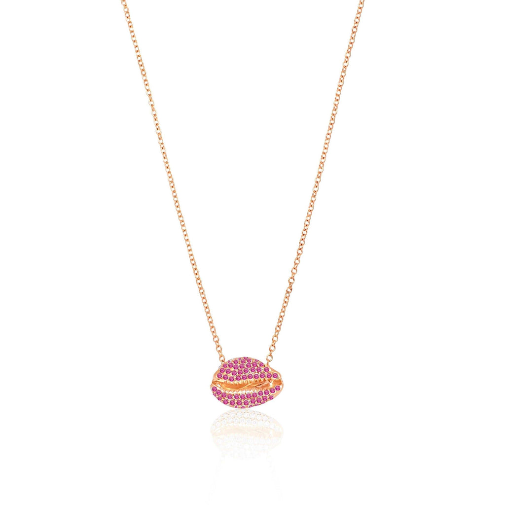 LE CAURI Arc en Ciel - Pink Sapphires for Breast Cancer Necklace ALMASIKA