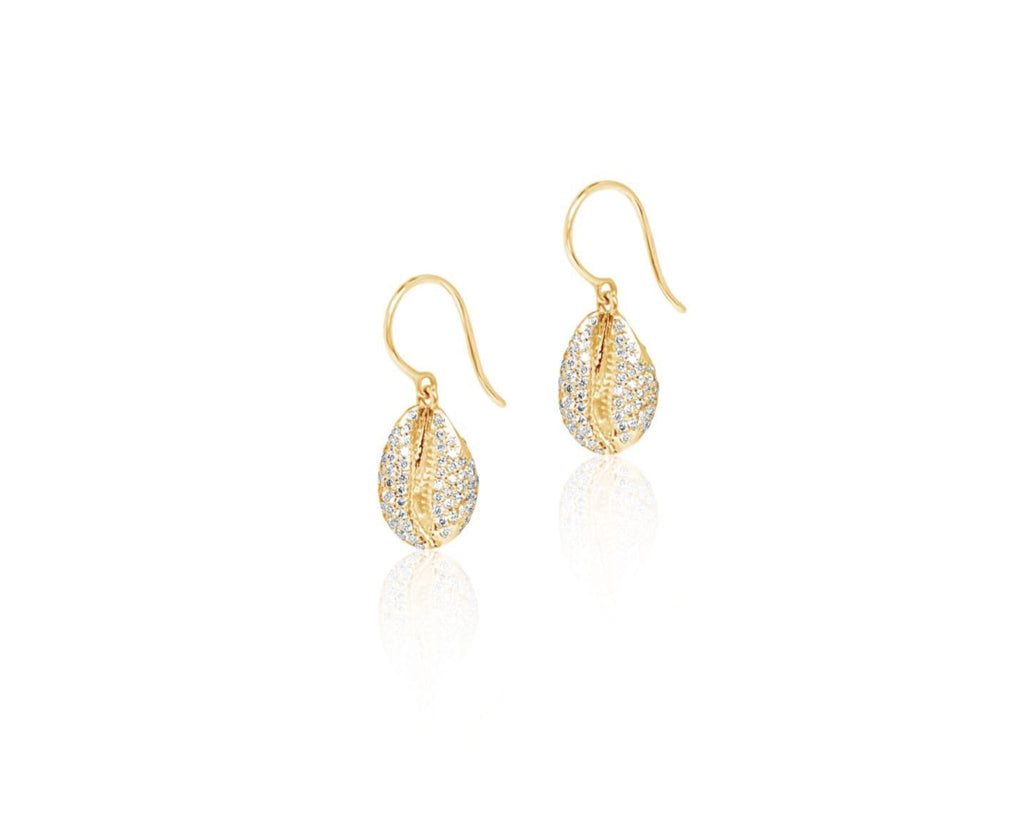 LE CAURI ENDIAMANTÉ Diamond drop earrings - Full Pave Yellow earrings ALMASIKA