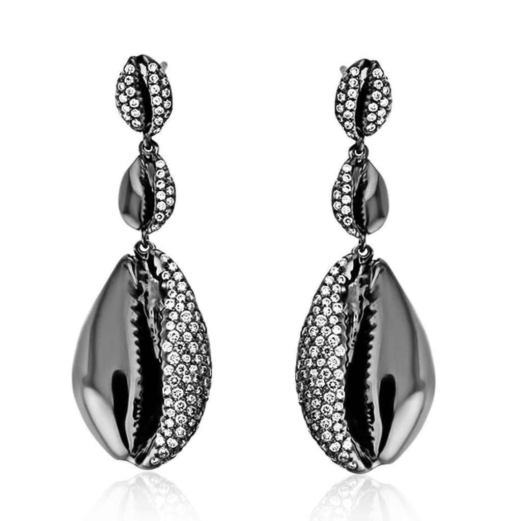 LE CAURI ENDIAMANTÉ - Drop Diamond Earrings earrings ALMASIKA