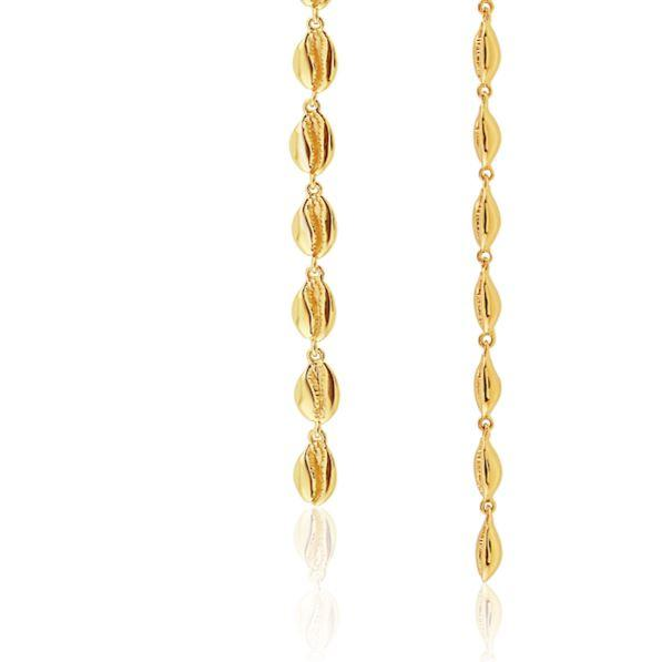 LE CAURI ENDIAMANTÉ - Le Cauri Shoulder Dusters - Gold earrings ALMASIKA