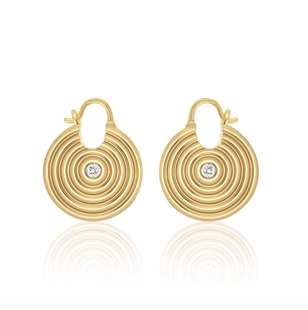 Sagesse - Universum Hoops with Center Diamond earrings ALMASIKA