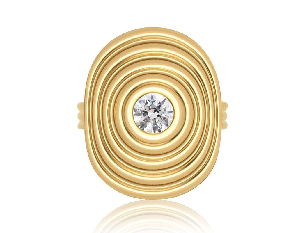 Sagesse - Universum Ring with Center Diamond Ring ALMASIKA