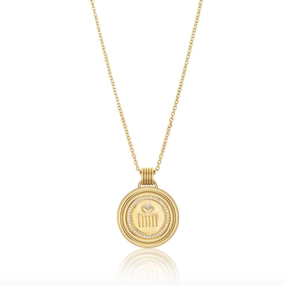 Sagesse - Vici Pave Medallion 23mm Necklace ALMASIKA