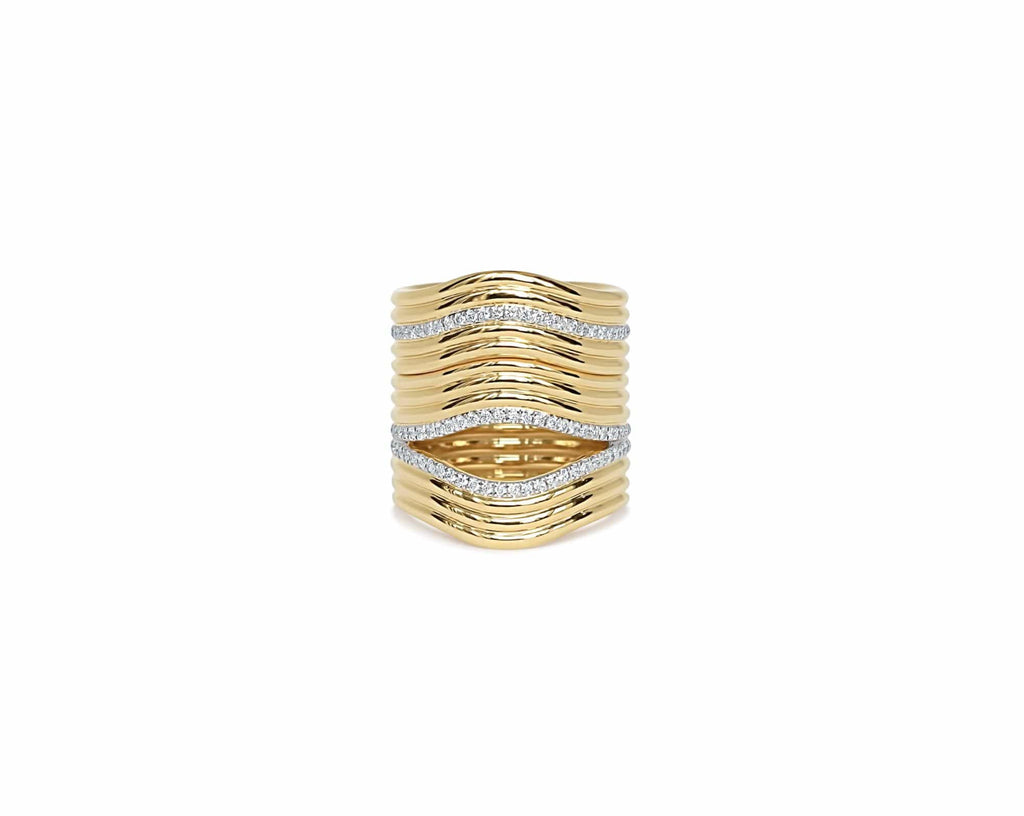 Stacked Berceau Ring Ring ALMASIKA