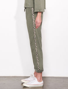 Trouser Sweatpant w/ Leopard Trim
