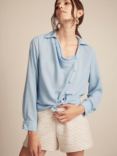 Draped Button Front Top