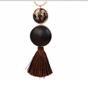 Jasper Mojave Tassel Necklace