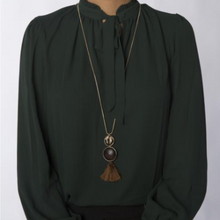 Load image into Gallery viewer, Jasper Mojave Tassel Necklace