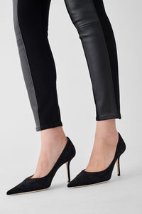 Farrow HIgh-Rise Leather Panel Jean