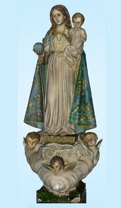 Blessed Mother w. Child and Globe, 60% OFF