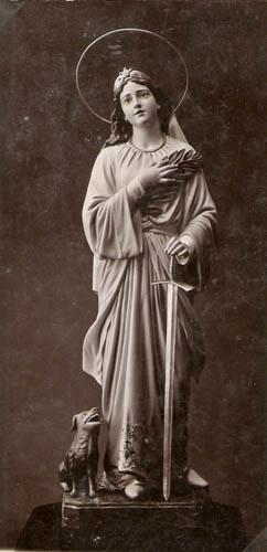 Saint, Female with Dog