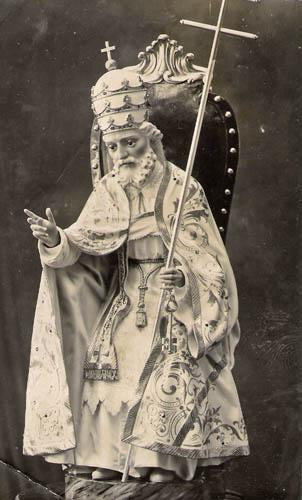 Saint Pope Kneeling