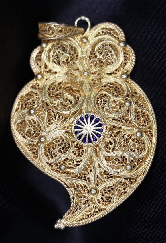 Heart of Viena Filigree Pendant