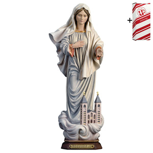 Lady of Medjugorje w. church + Gift Box