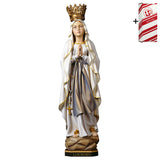 Lady of Lourdes w. crown + Gift Box