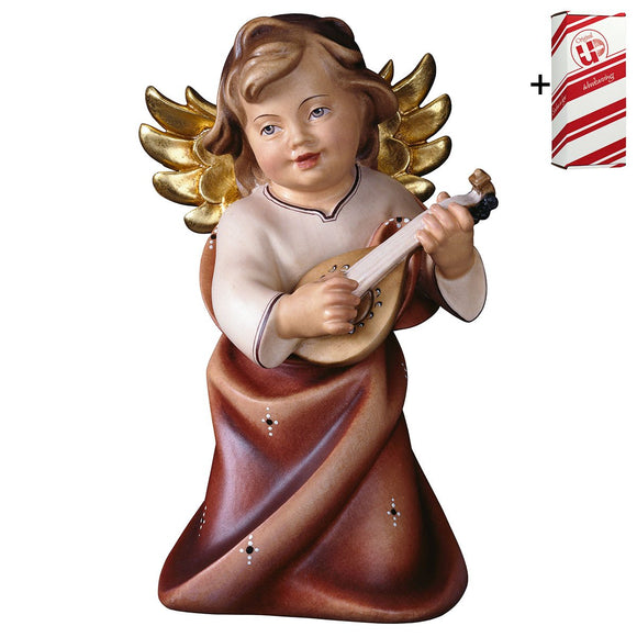Heart Angel w. lute + Gift Box
