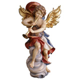 Angel on cloud w. trumpet