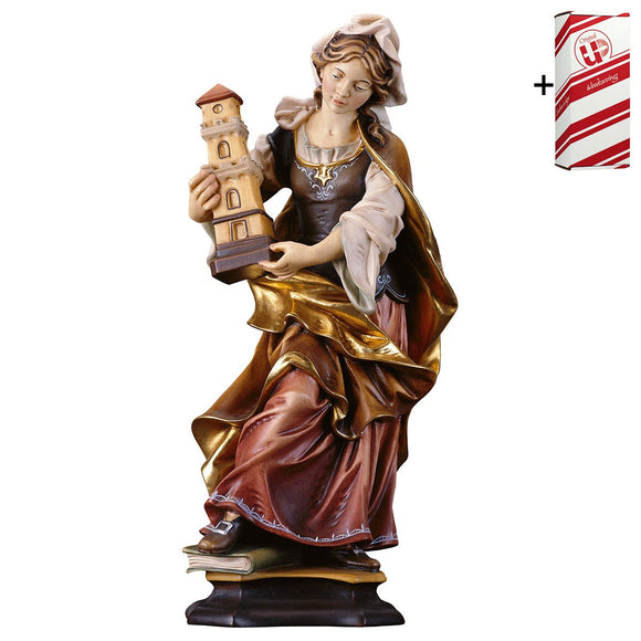 St. Barbara of Nicomedia w. tower + Gift Box