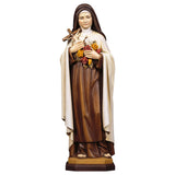 St. Therese of Lisieux w. roses and Crucifix