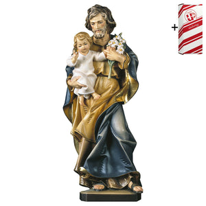 St. Joseph w. child and lily + Gift Box