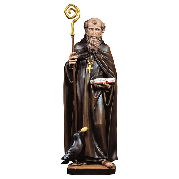 St. Benedict from Nursia w. crow and bread