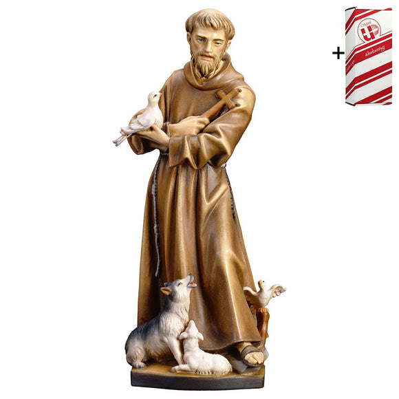 St. Francis of Assisi w. animals + Gift Box