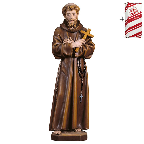 St. Francis of Assisi w. cross + Gift Box