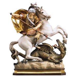 St. George on horse w. dragon