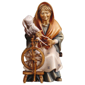 UL Old landlady w. spinning wheel
