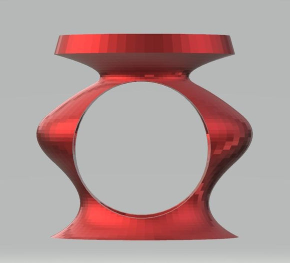 Modern Sculpture 10 Red Vase with Hole