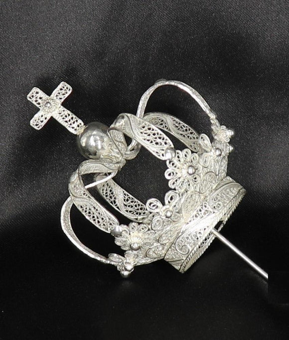 Silver Filigree Pilgrim Crown - 35% OFF