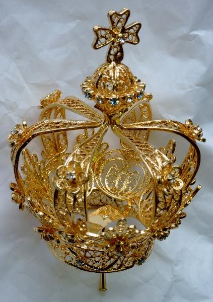 Gold Filigree Pilgrim Crown