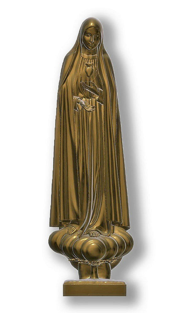 Lady of Fatima Pilgrim Int Immaculate Heart, Bronze