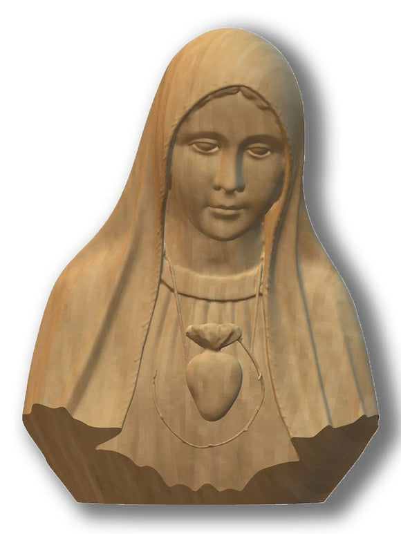 Bust Relief, Lady of Fatima Pilgrim Int. Immaculate Heart