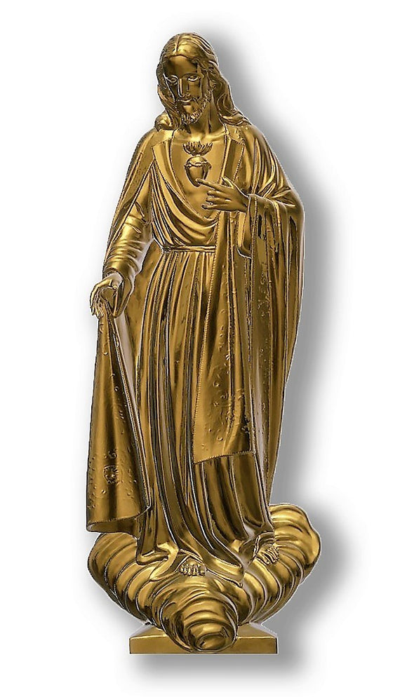 Sacred Heart of Jesus 02, Bronze