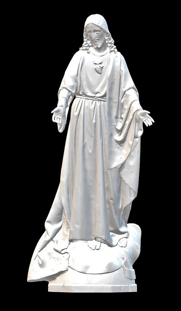 Sacred Heart of Jesus 04, Marble